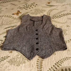 Vintage Tweed Vest XS